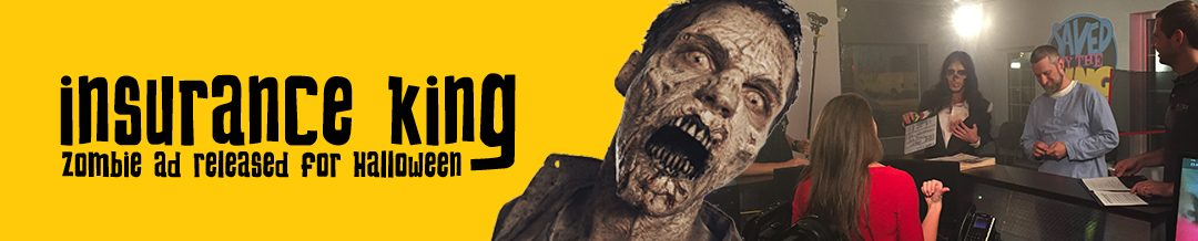 Insurance King zombie ad released for Halloween